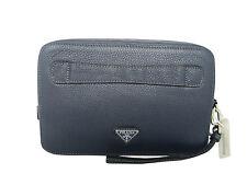 PRADA Vitello Daino Leather Hand Clutch Bag NWT Free Shipping