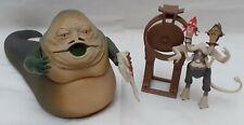 Figurine Star Wars Jabba + Commentateur Hasbro no X-Wing Faucon Millénium Jar