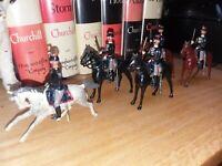 Vintage Britains Toy Soldiers Belgium Cavalry 5 complete Set 190