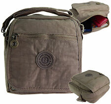 Damen Bag Street leichte Umhängetasche Nylon Schultertasche Handtasche neu Stone