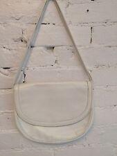 VTG 70s 80s Bottega Veneta Embossed Leather Shoulder Bag White Small