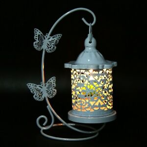 Hollow Hanging Bird Cage Candle Holder Candlestick Lantern Butterfly Home Decor
