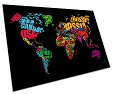 WORLD MAP OF NAMES WALL ART LARGE A1 POSTER 33 X 23 INCH