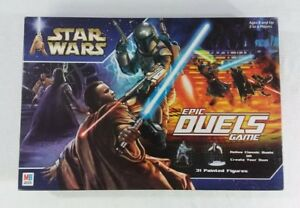 Star Wars Epic Duels Board Game Hasbro Milton Bradley 2002 RARE!