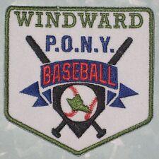 Windward PONY Baseball Patch - Hawaii