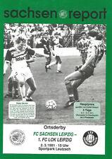 FC Sachsen(Chemie)Leipzig - 1.FC Lok Leipzig   1990/91   Oberliga