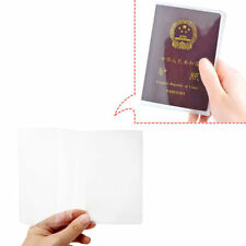 2 x Transparent Passport Cover, Holder Case Organizer ID Card Travel Protector