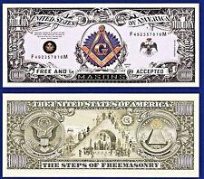 10-Free Masons- MASONIC  Dollar Bills  Collectible--Novelty -- FAKE -MONEY-L2