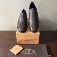 TOD'S Men's BROWN Wingtip Brogue Oxford Lace-up in Leather Size 9 (10 US)