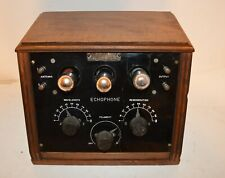 New ListingEarly 1920's Echophone Radio Receiver With Exposed Tubes