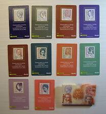 2002  Italia Emissione 2002  Tessere Filateliche  La donna nell'Arte   Completo