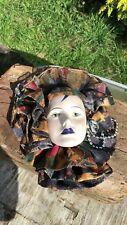Vintage Porcelain Wall Decorative Face Mask Hanger *