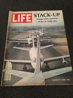 LIFE MAGAZINE AUGUST 9, 1968 STACK-UP DANGER & CONFUSION OF THE AIR TRAFFIC JAM