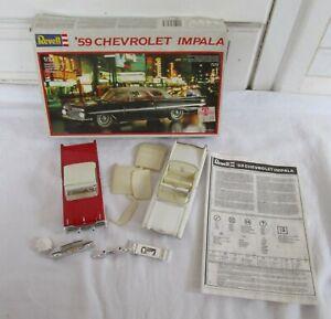 Vintage Revell '59 Chevrolet Impala Model Car Kit & Other 1/32 Scale