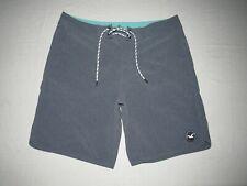 """Hollister Men's Blueish Gray Surf Board Shorts Size 34 Waist 34"""" Inseam 8"""""""