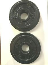 Pendlay Metal Olympic Change Weight Plates - 2 Pair: 1 KG and 2 KG, 12 KG Set