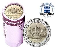 Schweriner Schloss 25 x 2 Euro Münzen Deutschland 2007 bankfrisch Mzz D in Rolle