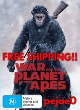 War For The Planet Of The Apes DVD Reg 4 FREE POST! (2017) New!