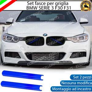 BMW SERIE 3 F30 F31 COVER RADIATORE GRIGLIA AD INCASTRO NO ADESIVO COLORE BLU