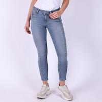 Levi's 711 Skinny Seamed Hellblau Damen Jeans W26 Größe 34