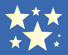 7 Star Shapes Stencil Country American Stars Multiple Sizes Free Shipping DIY