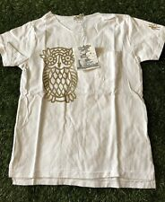 Engineered Garments Women's White Pocket T Shirt Size 0 Owl Print NWT Nepenthes