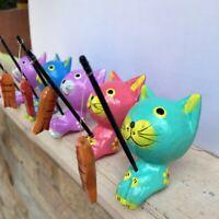 Blue Iguana wood twig stick pencil hand carved gift flok art handmade Reptile
