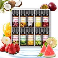 10pcs PHATOIL 10ml Huiles Essentielles 100% Pur Fruits Huiles d'Aromathérapie