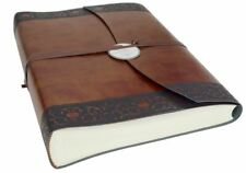 Romano Classico Recycled Leather Photo Album, Large Chestnut - Handmade in Italy