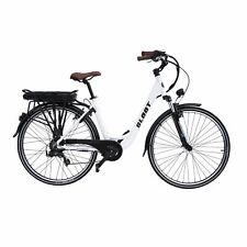 Elektrofahrrad Citybike 700C Weiß E-CI1010 E-Bike Pedelec 468Ah Damenrad NEU