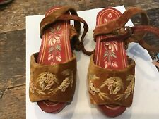 Chinese Antique Hand Painted Sandal    --- Estate Find