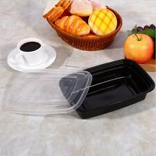 10 Pack Meal Prep 1 Compartment Food Containers Lids Picnic Lunch Box Stackable