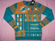Team Apparel Men's Miami Dolphins Ugly Christmas Sweater Nwt Small Retail $70