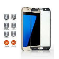 For Samsung Galaxy S7 Edge - Full Curved Tempered Glass Screen Protection Black