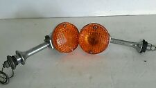 Vintage Motorcycle Chrome Turn Signal Housings  #012