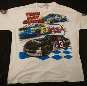 Dale Earnhardt Vintage All Over Times May Change T-Shirt 3XL 1990s