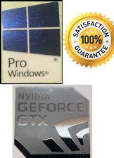 NVIDIA GeForce GTX + Gratis Adesivo con Windows 10 PRO 7 VISTA XP 8 PC COMPUTER BASE