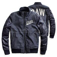 G-STAR RAW BOMBER JACKET OVERSHIRT INDIGO SHATTER DENIM  SIZE L / Large