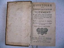 religion HISTOIRE VIEUX NOUVEAU TESTAMENT sieur de Royaumont 1732