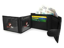 RFID BLOCKING Mens Leather Wallet 9 Credit Card Coin Section Gift Box Boxed Mans