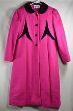 ROTHSCHILD Wool Blend Girls Sz 10 Pink Coat Fuschia EUC Vtg USA Velvet Winter