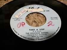"Popcorn R&B 45 The Fontane Sisters ""Take A Step"" DOT Promo 45!"