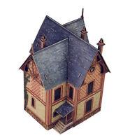 Villa Vesinet Building War Games Terrain Landscape Scenery Cardboard Model Kit