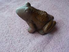 Red Mill Pecan Shell Frog Figurine Dated '86
