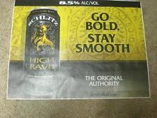 "Schlitz High Gravity ""Go Bold Stay Smooth"" Vinyl Poster(25"" X 19"")"