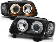 HEADLIGHTS LHD/RHD LPVW63 VW POLO 6N2 1999 2000 2001 ANGEL EYES BLACK