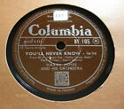 Harry James - You'll Never Know / Jalousie COLUMBIA (1373)