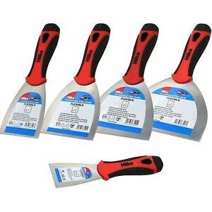 """Hilka Filler Knife Scraper Flexible Blade Soft Grip Paint Putty 1.5 2 3 4 5 6"""""""
