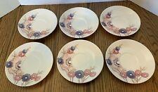 6 - NORITAKE Craftone Medley #8771 Saucers Dinnerware Replacements