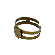 8 mm Pad Anillo Blanks bases resultados Ajustable Plata Oro Bronce Antigua De hágalo usted mismo